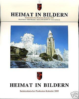 Heimat in Bildern: Sudetendeutscher Postkarten-Kalender 2009 !!!NEU!!!