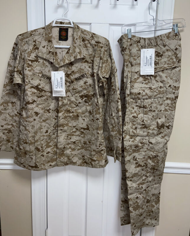 NEW USMC Desert MARPAT Shirt & Pants Set Combat Uniform MCCUU SZ Medium Regular