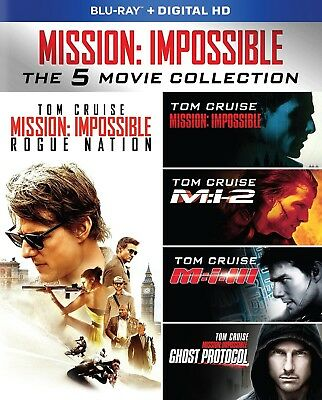 Mission Impossible 5 Movie Blu Ray Collection   Never Played  No Digital Code