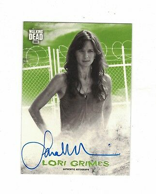 Topps Walking Dead Hunters and the Hunted AUTOGRAPH LORI GRIMES /25 SARAH WAYNE