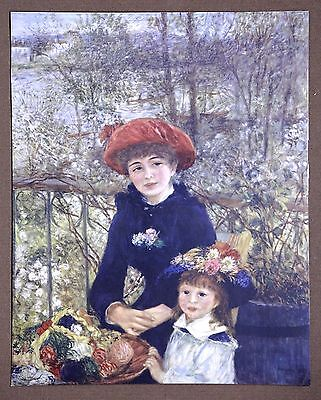 Renoir The Two Sisters Vintage Original Collotype from Late 1960s