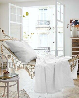 Sommerset Bettwäsche Baumwolle Sommertuch 150x200 + Kissenbezug 80x80, weiß-grau