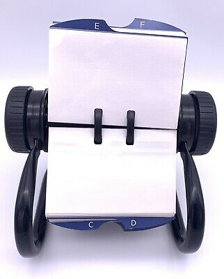 Vintage Rolodex Model 1024x Metalblack Made In Usa Turns Tested Working