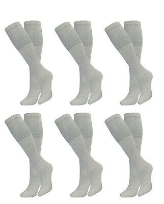 6-12-18 PAIR MENS BIG & TALL ATHLETIC SPORTS COTTON OVER THE CALF TUBE SOCKS Over The Calf Socks