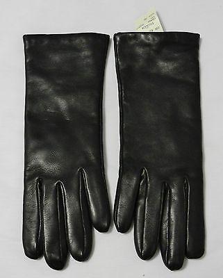 Bergdorf Goodman Portolano Nappa Brown Leather/Cashmere Lined Ladies Gloves Sz 7