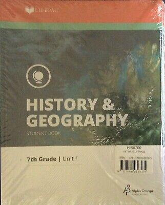 Alpha Omega Lifepac History Geography Grade 7 Unit 1-10 Student Book Grade Lifepac History Unit