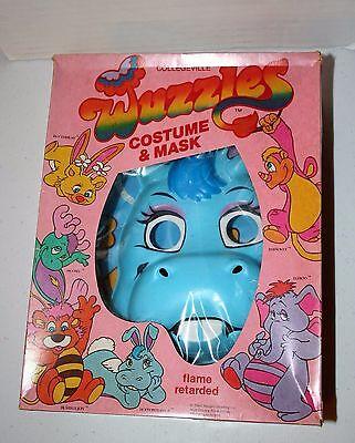 Vintage 1984 Collegeville Halloween Costume Disney's WUZZLES Hoppopotamus Mask