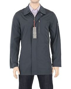 $175 T-Tech by Tumi Mens Packable Water Resistant Windbreaker Rain Jacket Coat