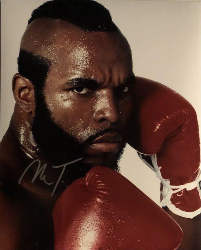 Mr. T - Rocky 3 - Clubber Lang - Original Autograph - Hand Signed 8x10 w/ COA
