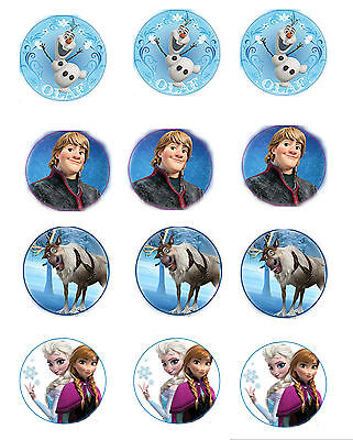 Frozen Edible Image Cupcake Toppers (12 per sheet) - Frozen Cupcake Toppers