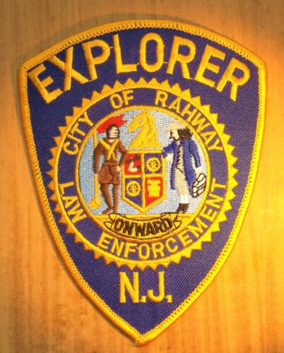 GEMSCO NOS Vintage Collectible Patch POLICE EXPLORER RAHWAY NJ - Original 30+