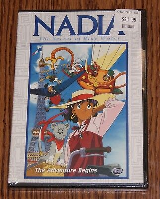 Nadia, Secret of Blue Water Vol. 1 - The Adventure Begins (DVD, 2001) Brand New, used for sale  USA