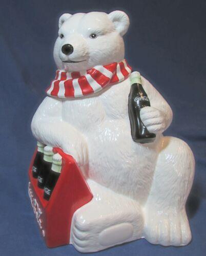 "Coca-Cola Polar Bear Cookie Jar 10"" – 1998 – NIB – Rare – Limited Edition"
