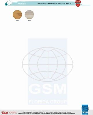 Heat Transfer Vinyl Siser Easyweed Metallic Gold Or Silver Mirror 20x 1 Foot