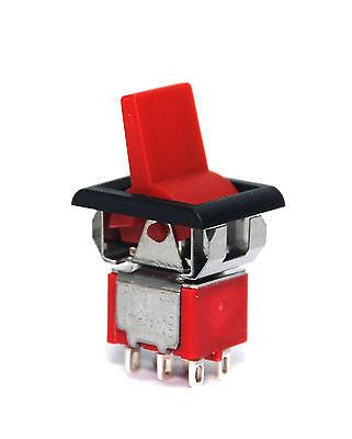 5pc Miniature Rocker Paddle Switch Onon 6p Dpdt 2a250v 5a120v 3md1r723m1qes