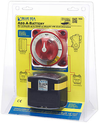 Blue Sea Boat Marine ADD A BATTERY KIT Dual Battery Bank Isolates/Combines 7650