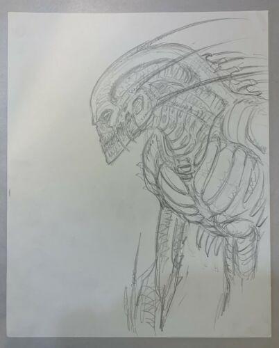 Species II Original Storyboard Concept Art  Kerry Gammill & Steve Johnson XFX