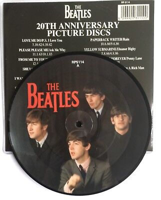 "BEATLES - Can't Buy Me Love - UK 7"" Picture Disc + Rarely seen Catalogue insert"