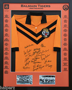 1969 Balmain Tigers Premiers - NRL Signed & Framed Jersey