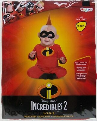 Halloween Disney Incredibles 2 Jack-Jack Infant Costume Size 12-18 months NWT