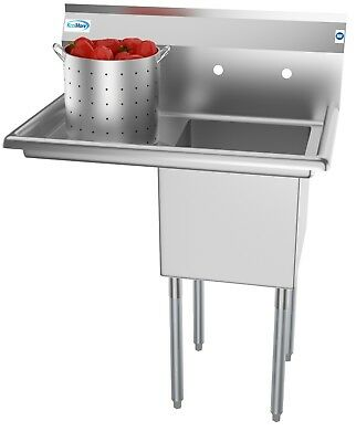 1 Compartment Stainless Steel Commercial Kitchen Prep Utility Sink W - 1 Stainless Steel Kitchen Sink