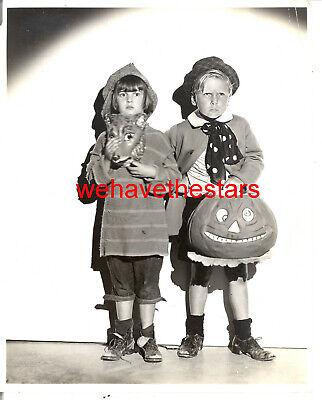 Black And White Movie Stars Halloween (Vintage Jackie Coogan Jackie Cooper CHILD STAR '31 HALLOWEEN Publicity)