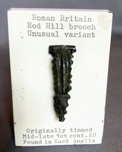 Roman British Bronze Brooch, Rare Type, PUBLISHED, Hattatt Collection 50-100 AD