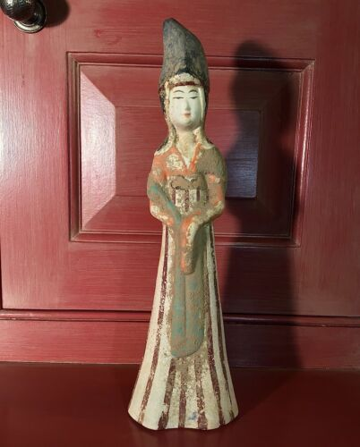 Ancient Chinese Court Lady Tang Dynasty Shanghai Museum Figurine w Box MMA Repro