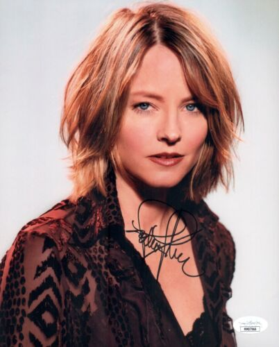 JODIE FOSTER Signed TAXI DRIVER / SILENCE OF LAMBS 8x10 Photo Autograph JSA COA