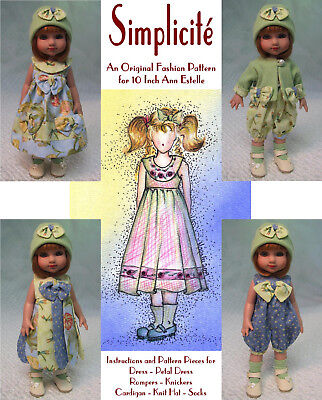 """Simplicité"" Fashion Pattern for 10 Inch Tonner  Ann Estelle and Patsy"
