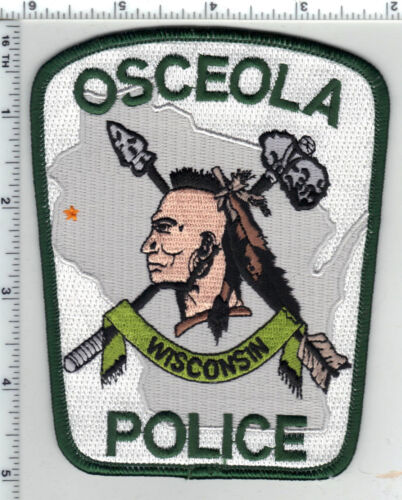 Osceola Police (Wisconsin) Shoulder Patch from the 1980