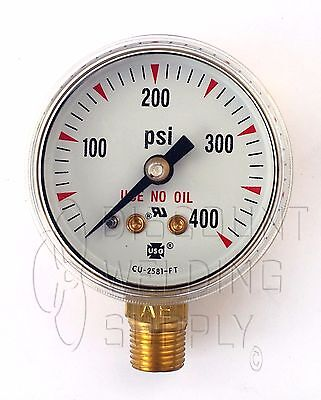 1-12 1.5 Usg Ametek Welding Gauge 400 Lbs. Acetylene Regulator Us-037