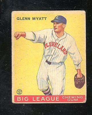1933 Goudey  10    Glenn Myatt    Indians      Creased     Look