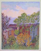 Quadro Antico Dipinto Olio Paesaggio Campagna Autunno Con Alberi Originale 900 -  - ebay.it