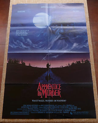 Apprentice to Murder Movie Poster, Original, Folded, One Sheet, Chad Lowe, 1988