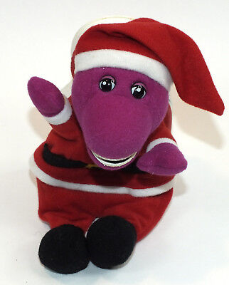 1999 Barney Purple Dinosaur Dino Merry Christmas Book Santa Costume Holiday](Flintstones Dino Costume)