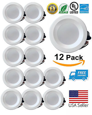 LED Downlight Dimmable 4 Inch 9W Smooth Recessed Retrofit Ceiling Light 1-60 Pcs