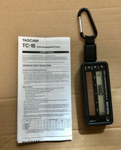 Tascam TC-1S Solar Rechargeable Tuner