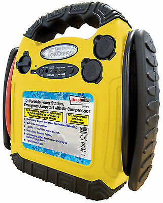 Streetwize 900A 12V Portable Power Pack, Emergency Jumpstart with Air Compressor