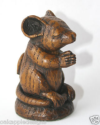 Church Mouse Praying Ornament HandMade Mice Carving unique gift Cathedral Prayer