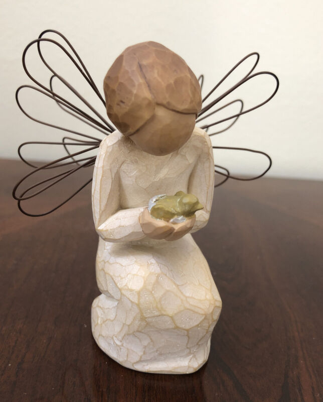 Willow Tree 2002 Angel Of Miracles With Bird Figurine Susan Lordi Demdaco  EUC