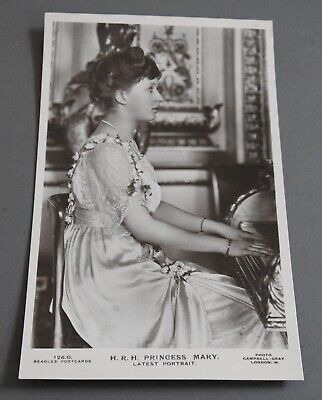 antique RPPC HRH Princess Mary WWI era British royalty