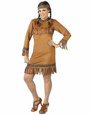 Native American Indian Princess Adult Costume, Plus Size(16W-20W)