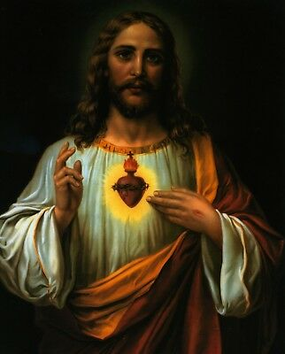 Catholic print picture -  SACRED HEART OF JESUS 4 -  8