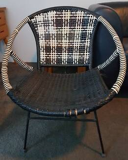 Retro 1960 Vintage Woven Saucer Chair
