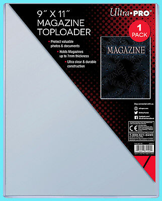 """1 Ultra Pro 9""""x11"""" Thick Magazine Holder TOPLOADER 7MM Protector Photo Document"""
