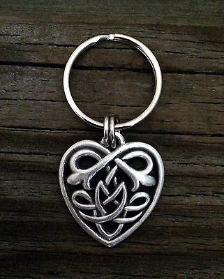 Celtic Knot Heart Pewter Keychain - Heart Pewter Keychain