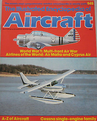 Encyclopedia of Aircraft Issue 145 Cessna single-engine family cutaway drawing Cessna Single Engine Aircraft