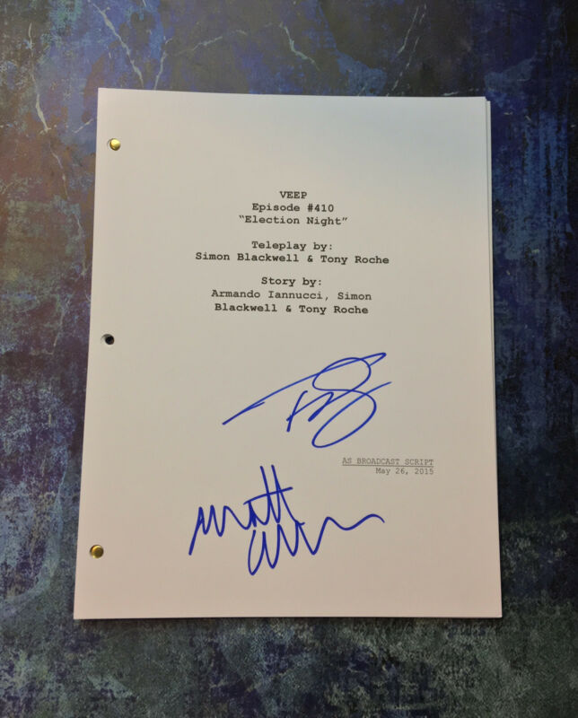 GFA Matt Walsh & Timothy Simons * VEEP CAST * Signed TV Script AD1 COA