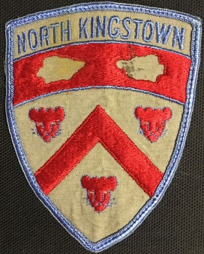 North Kingstown Rhode Island RI Police Shoulder Patch  Nice, Vintage